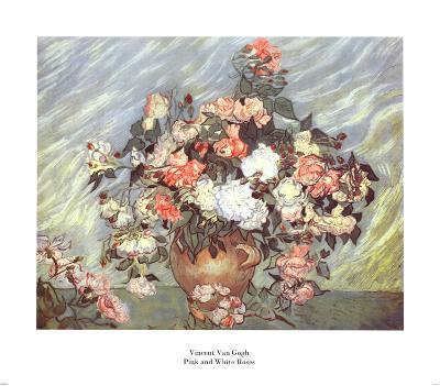 Pink and White Roses, c.1890-Vincent van Gogh-Art Print