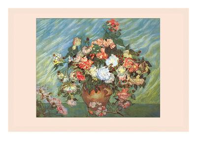Pink and White Roses-Vincent van Gogh-Art Print