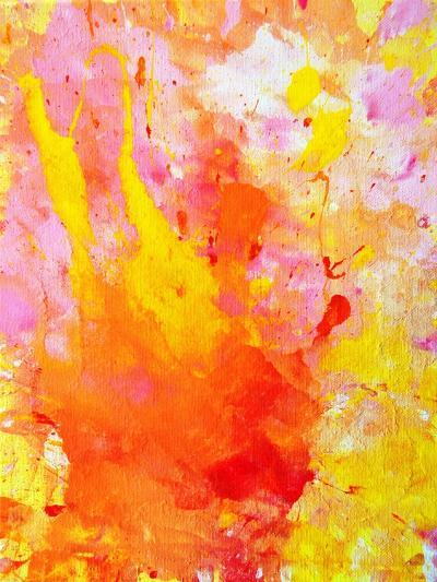 Pink and Yellow Abstract Art Painting-T30Gallery-Art Print