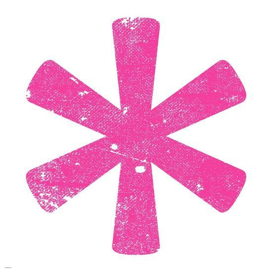 Pink Asterisk-Veruca Salt-Art Print