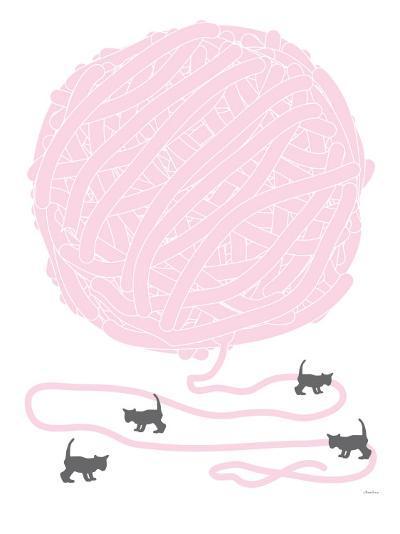 Pink Ball of Yarn-Avalisa-Art Print