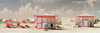 Pink Beach Houses - Miami Beach - Florida-Philippe Hugonnard-Photographic Print