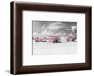 Pink Beach Houses - Miami Beach - Florida-Philippe Hugonnard-Framed Photographic Print
