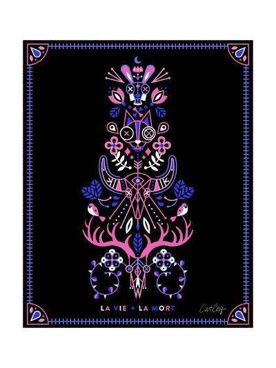 Pink Black LaMort-Cat Coquillette-Giclee Print