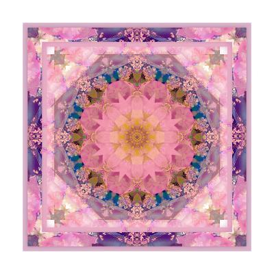 Pink Blue Mandala-Alaya Gadeh-Art Print