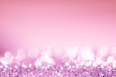 Pink Bokeh Circles Background.-Gamjai-Photographic Print