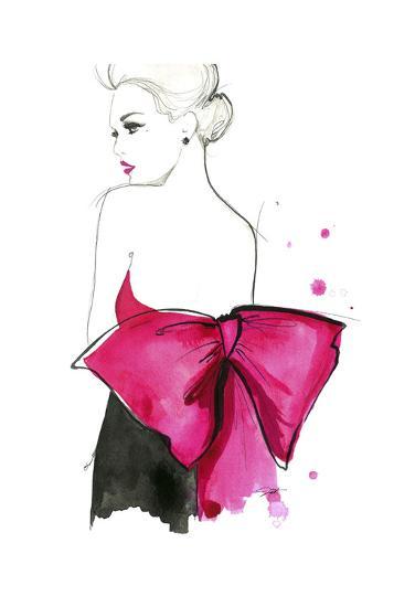 Pink Bow-Jessica Durrant-Art Print