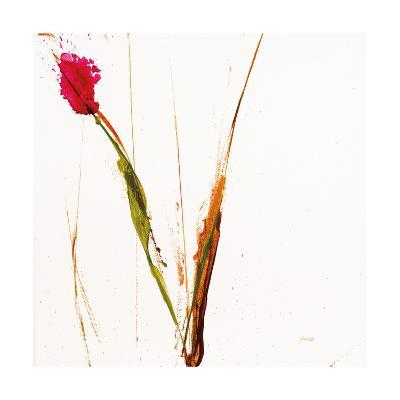 Pink Buds I on White-Jan Griggs-Art Print