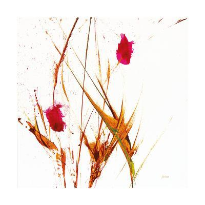 Pink Buds II v2 on White-Jan Griggs-Art Print