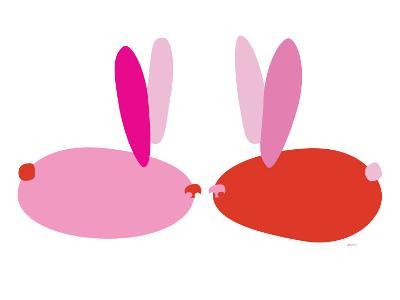 Pink Bunnies-Avalisa-Art Print