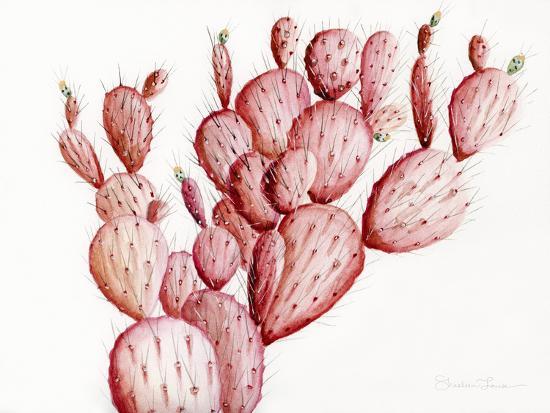 Pink Cacti-Shealeen Louise-Art Print