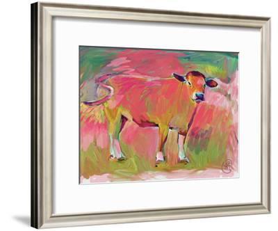 Pink Calf 2-Sarah Butcher-Framed Art Print
