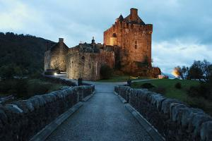 Central Alley from Eilean Donan Castle at Dusk by pink candy