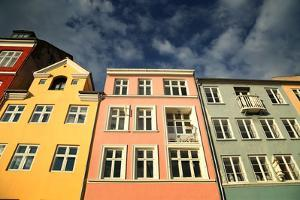 Colourful Houses in Copenhagen, Europe by pink candy