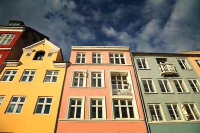 Colourful Houses in Copenhagen, Europe