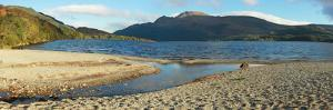 Panorama of the Loch Lomond during the Morning in Scotland, UK by pink candy