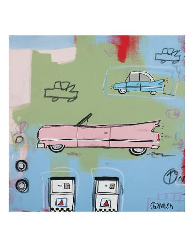 Pink Car-Brian Nash-Art Print