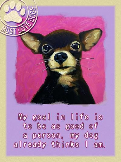 Pink Chihuahua-Cathy Cute-Giclee Print
