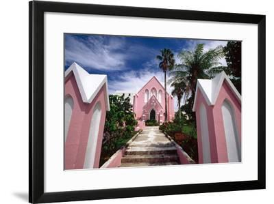 Pink Church, Hamilton, Bermuda-George Oze-Framed Photographic Print
