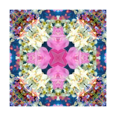 Pink Cross Mandala-Alaya Gadeh-Art Print