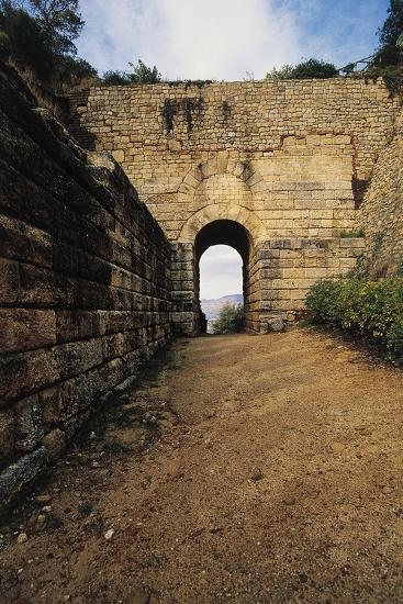 Pink Door, Archaeological Excavations at Velia Elea--Photographic Print