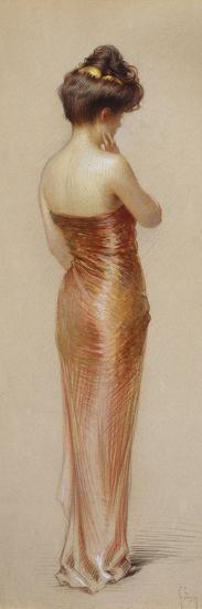 Pink Dress-Gaston Bouy-Premium Giclee Print