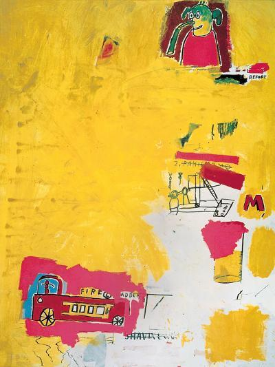 Pink Elephant with Fire Engine, 1984-Jean-Michel Basquiat-Giclee Print