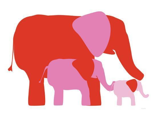 Pink Elephants-Avalisa-Art Print