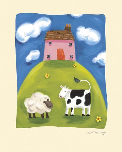 Pink Farmhouse-Sophie Harding-Art Print