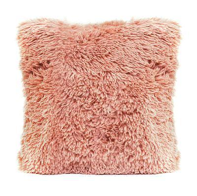 Pink Faux Fur Pillow--Home Accessories