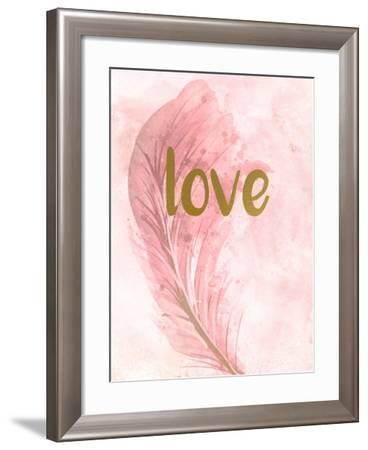 Pink Feathered 3-Kimberly Allen-Framed Art Print