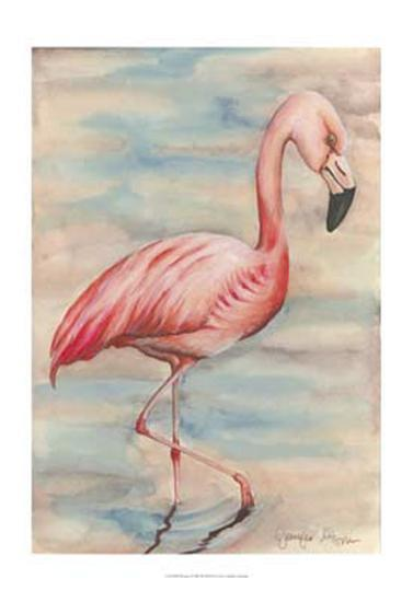 Pink Flamingo I-Jennifer Goldberger-Art Print