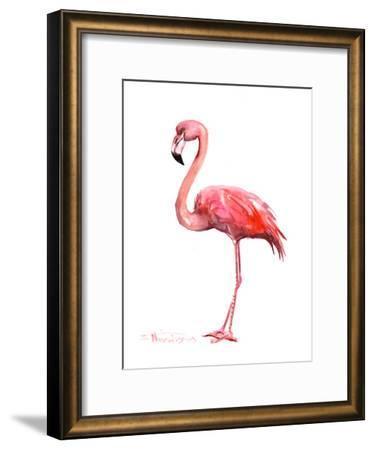 Pink Flamingo-Suren Nersisyan-Framed Art Print