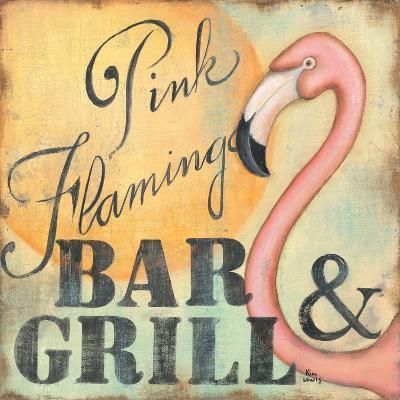 Pink Flamingo-Kim Lewis-Art Print