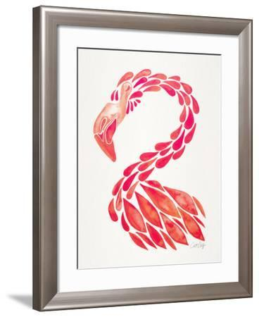 Pink Flamingo-Cat Coquillette-Framed Giclee Print