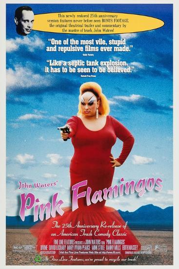 Pink Flamingos--Art Print