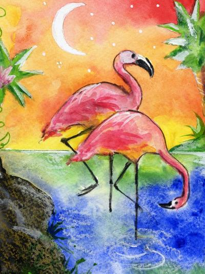Pink Flamingos-sylvia pimental-Art Print