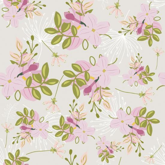 Pink Floral Pattern-Tina Lavoie-Giclee Print