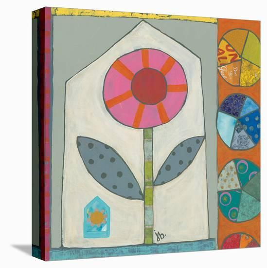 Pink Flower-Julie Beyer-Stretched Canvas Print