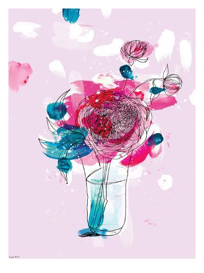 Pink Flowers 2-Paula Mills-Art Print