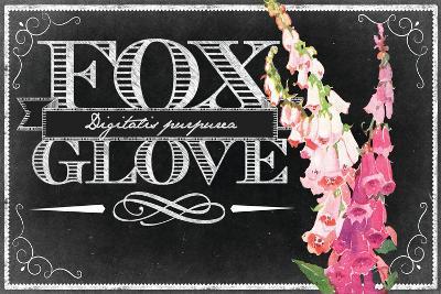 Pink Fox Gloves--Giclee Print
