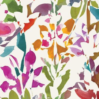 Pink Garden Square III White-Hugo Wild-Art Print