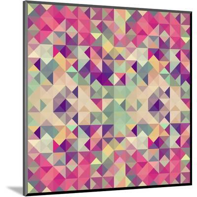 Pink Geometric Pattern-cienpies-Mounted Print