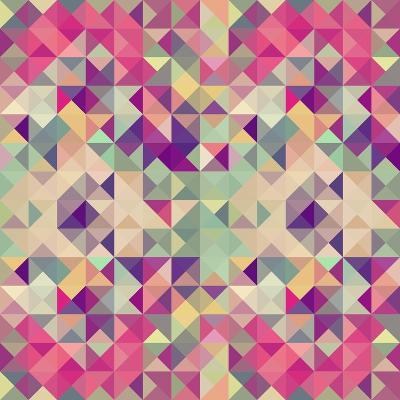 Pink Geometric Pattern-cienpies-Art Print