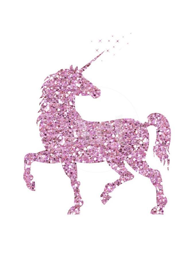 97a4127e707 Pink Glitter Unicorn Art Print by Peach   Gold