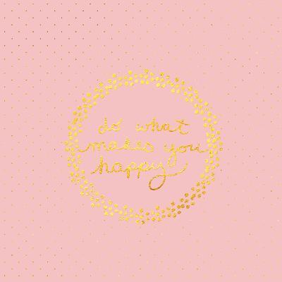 Pink Gold Glitter Pattern Typography-Square-Grab My Art-Art Print