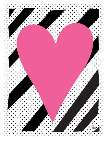 Pink Heart-Ashlee Rae-Art Print