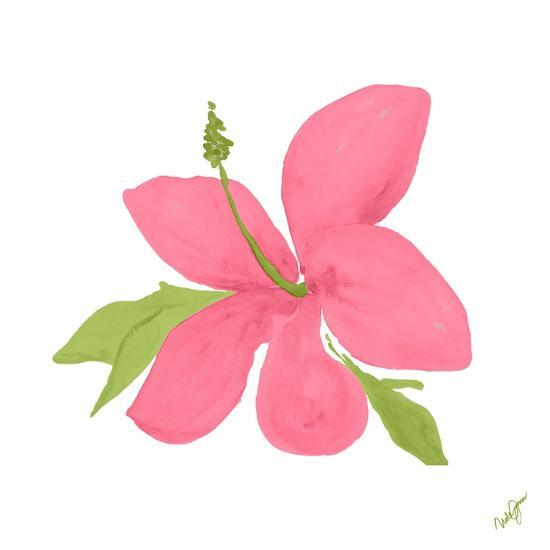 Pink Hibiscus-Nola James-Art Print