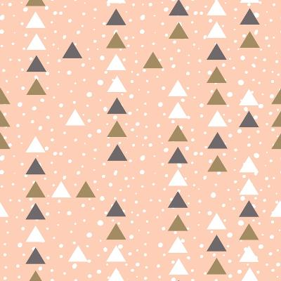 Pink Hipster Geometrical Seamless Vector Pattern.-Alenka Karabanova-Art Print