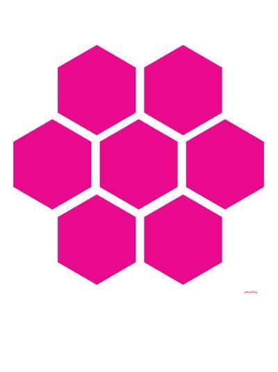 Pink Honeycomb-Avalisa-Art Print